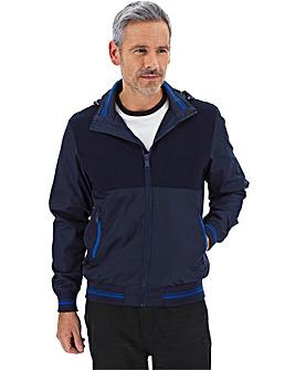 Blue Contrast Zip Jacket