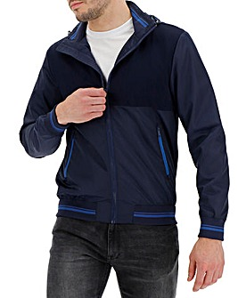 Blue Contrast Zip Jacket