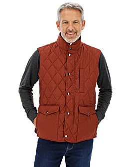 Wine Quilted Padded Gilet