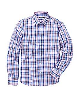 Pink Check Long Sleeve Shirt Regular