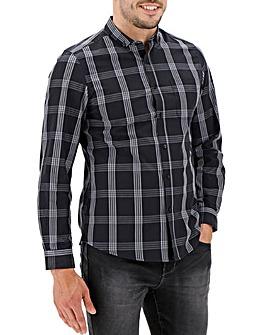 Black Check Long Sleeve Shirt