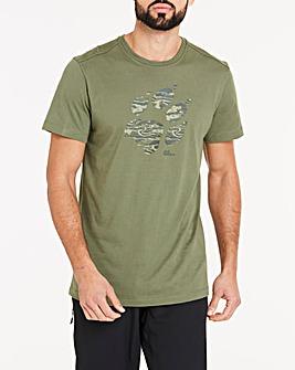 Jack Wolfskin Paw Print T-Shirt