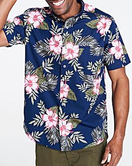 Navy Floral Short Sleeve Shirt