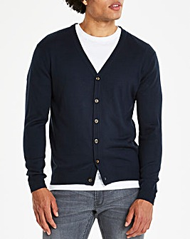 Navy Button Cardigan