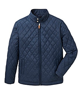 Navy Quilted Jacket Regular