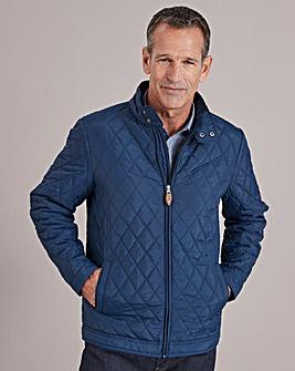 Navy Quilted Jacket Regular