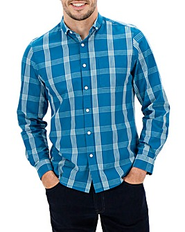 Teal Bright Checked Shirt