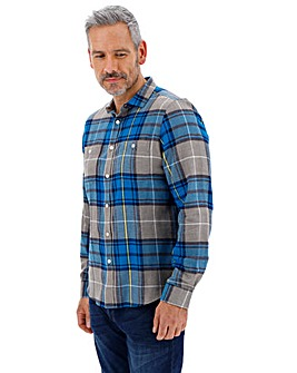 Teal Flannel Checked Shirt