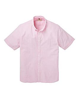 WILLIAMS & BROWN Short Sleeve Stripe Seersucker Shirt Longer