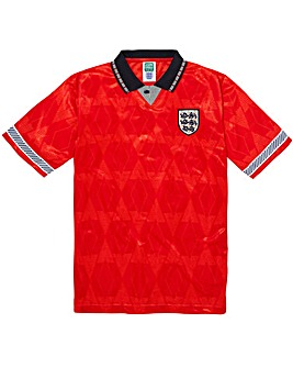 Scoredraw England 1990 World Cup Finals Away Retro Football Shirt