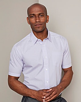 W&B London Lilac Short Sleeve Formal Shirt Regular