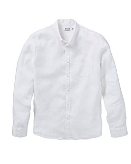 Long Sleeve Plain Linen Shirt R