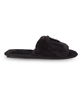 Nevaeh Fluffy Mule Slippers Standard Fit