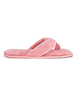 Liv Soft Terry Toe Post Slippers Standard Fit