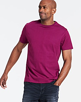Magenta Crew Neck T-shirt Long