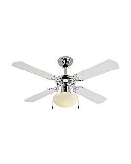Ceiling Fan - White & Chrome