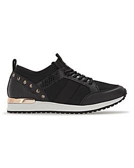 Etta Gold Trim Trainers Wide Fit