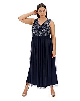 Joanna Hope Beaded Bodice Dress