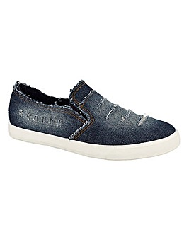 Ari Denim Slip On Shoes Standard Fit