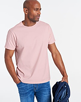 Baby Pink Crew Neck T-shirt Long