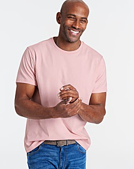 Baby Pink Crew Neck T-shirt