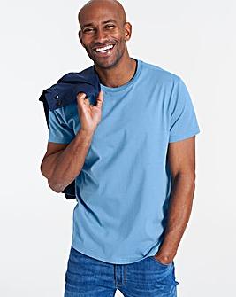 Azure Blue Crew Neck T-shirt