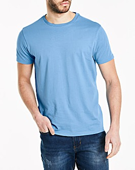 Azure Blue Crew Neck T-shirt Long