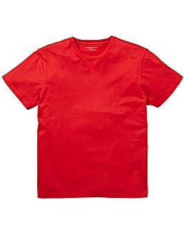Red Crew Neck T-shirt Long