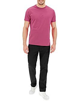 Hot Pink Crew Neck T-shirt Long