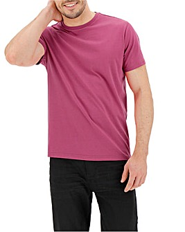Hot Pink Crew Neck T-shirt Long