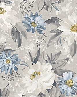 Painted Dahlia Wallpaper