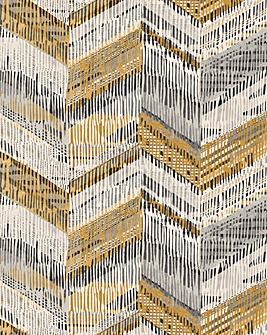 Chevron Weave Ochre Wallpaper