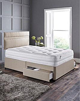 Silentnight 1000 Tufted Divan 2 Drawers