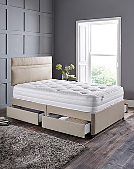 Silentnight 1000 Tufted Divan 4 Drawers