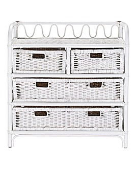 Wicker 2+2 Drawer Chest