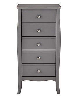 Paris 5 Drawer Narrow Chest