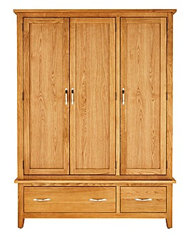 Harrogate 3 Door 2 Drawer Wardrobe