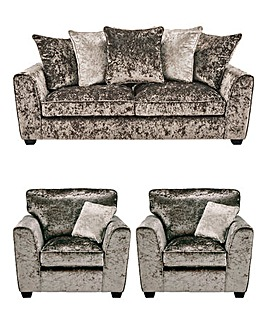 Jewel 3 Seater Sofa and 2 Chairs