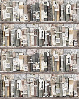 Graham & Brown Vintage Book Wallpaper