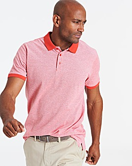 Coral Birds Eye Polo Long