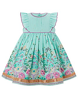 Monsoon Baby Aiesha Border Dress