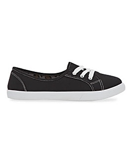 Goulburn Classic Lace Up Plimsolls Wide Fit