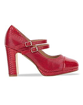 Dolly High Heel Mary Jane Shoes Wide Fit