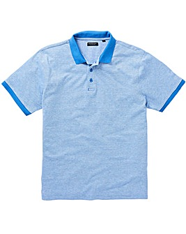 Azure Blue Birds Eye Polo Long