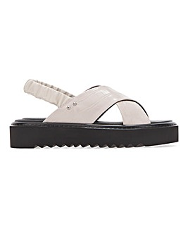 Danni Chunky Cross Strap Flatform Sandals Extra Wide Fit