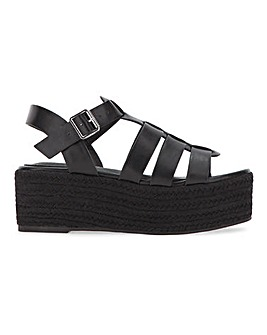 Lacey Espadrille Wedge Fishermens Sandals Extra Wide Fit