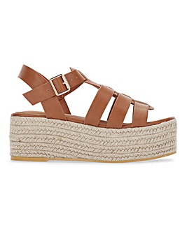 Lacey Espadrille Wedge Fishermens Sandals Wide Fit