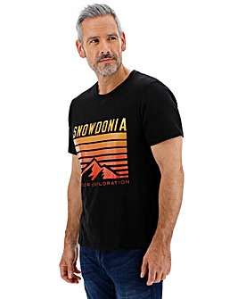 Snowdonia Logo T-Shirt Long