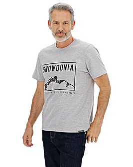 Snowdonia Logo Short Sleeve T-Shirt Long