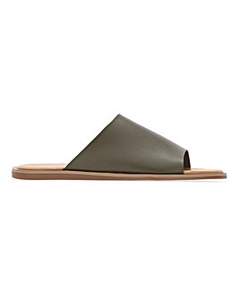 Massa Classic Flat Mule Sandals Extra Wide Fit